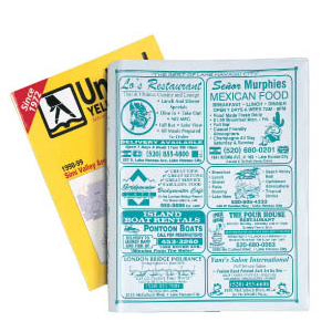 Available Telephone Book Covers with Standard Features